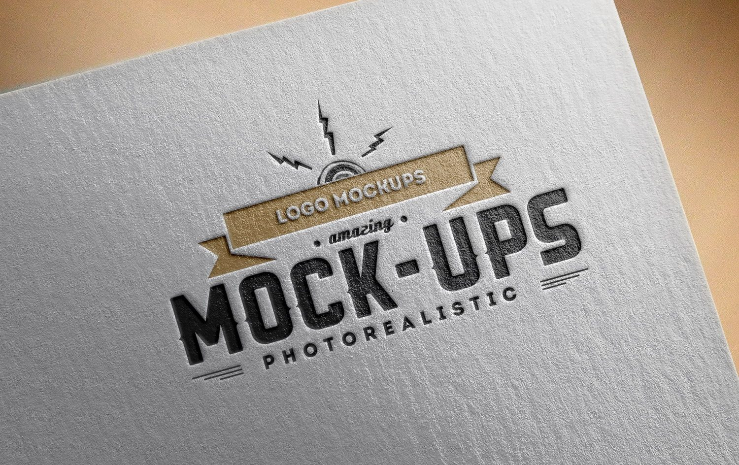Logo Mock-Up Exclusive Paper Edition