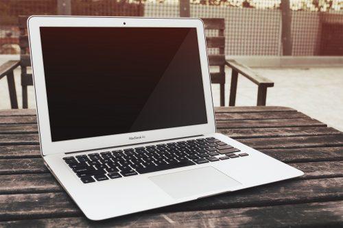 MacBook Air Free PSD Mockup