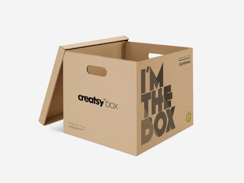 Moving Box PSD Mockup