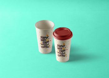 Paper Hot Cup Mockup Template