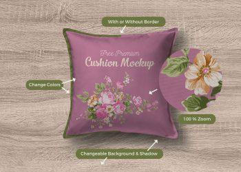 Premium Quality Cushion Cover Mockup