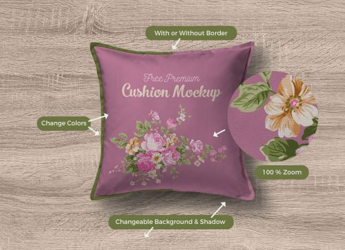 Premium Quality Cushion Cover Mockup
