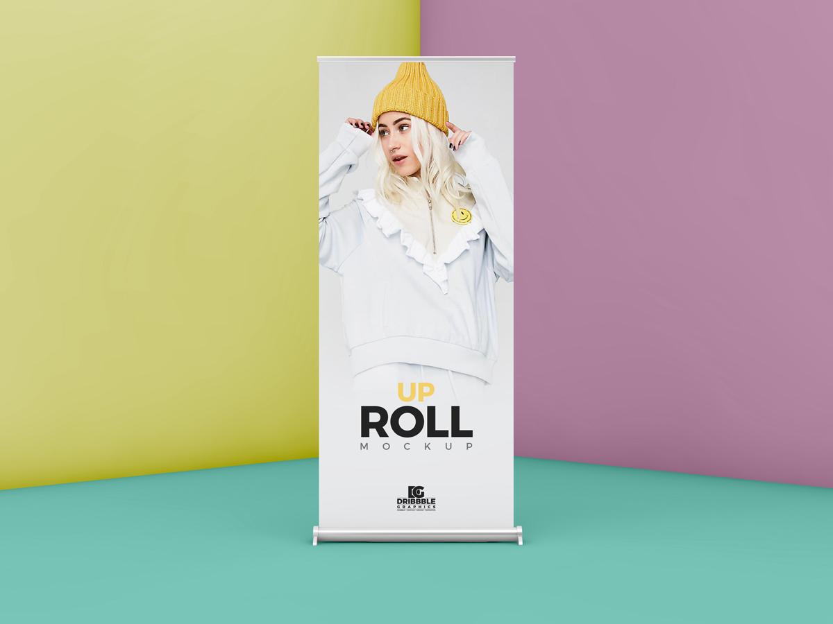 Roll Standing Banner Mockup