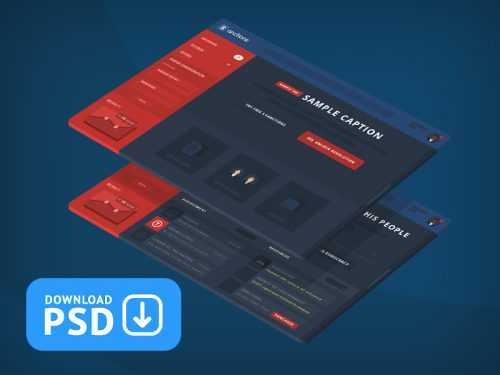 Sanctions GUI Dashboard PSD Mockup