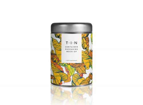 Tin Container Packaging Mockup