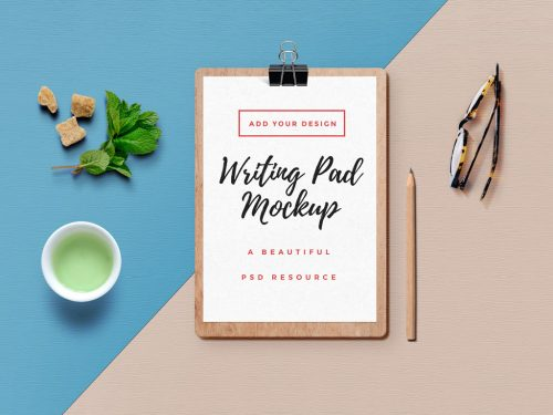 Writing Pad Mockup PSD