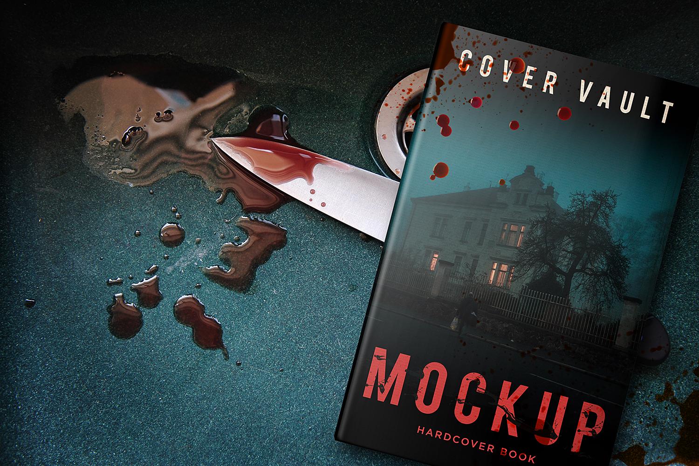 Book Mockup Horror Murder