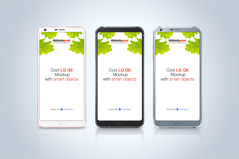 LG G6 Smartphone Mockup