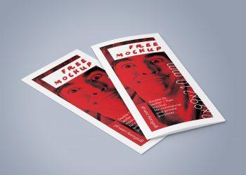 Bi-Fold DL Leaflet Mockup