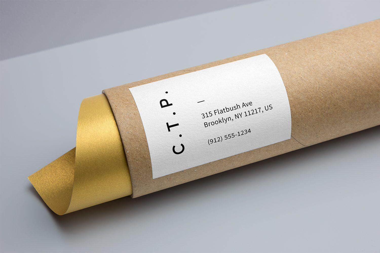Cardboard Tube Packaging Mockup