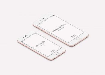 Clean iPhone 6s/6s Plus Rose Gold Mockups