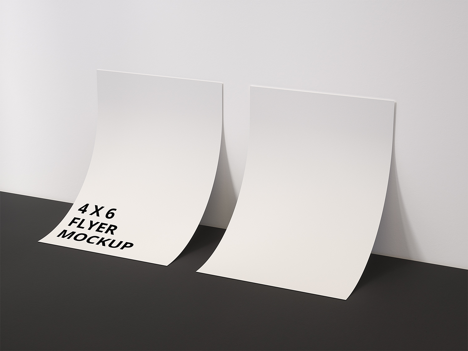 Double-Sided 4x6 Inch Flyer Mockup