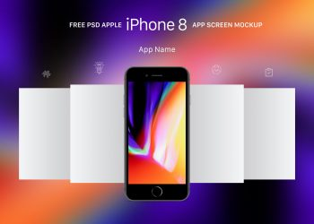 iPhone 8 Gold, Gray & Space Gray Mockup