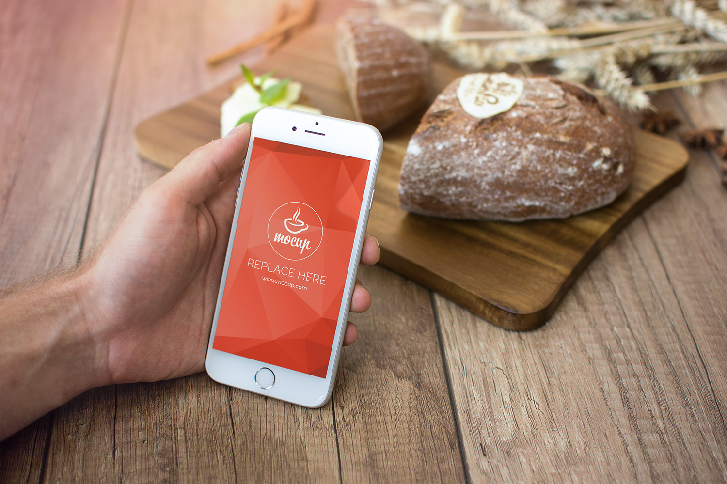 Free PSD Mockup iPhone 6 Breakfast