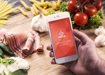 Free iPhone 6 Mockup Food