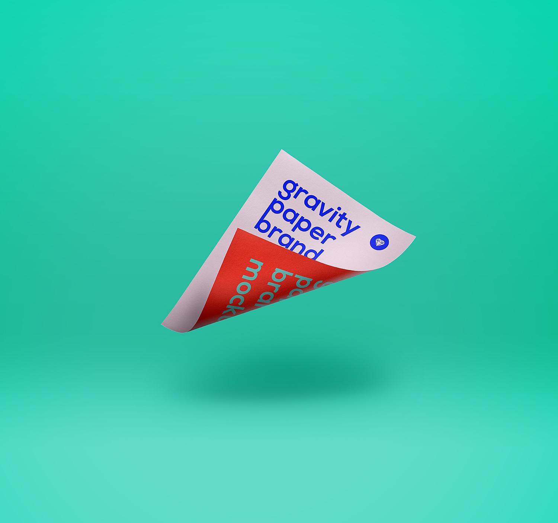 Gravity Paper Mockup PSD