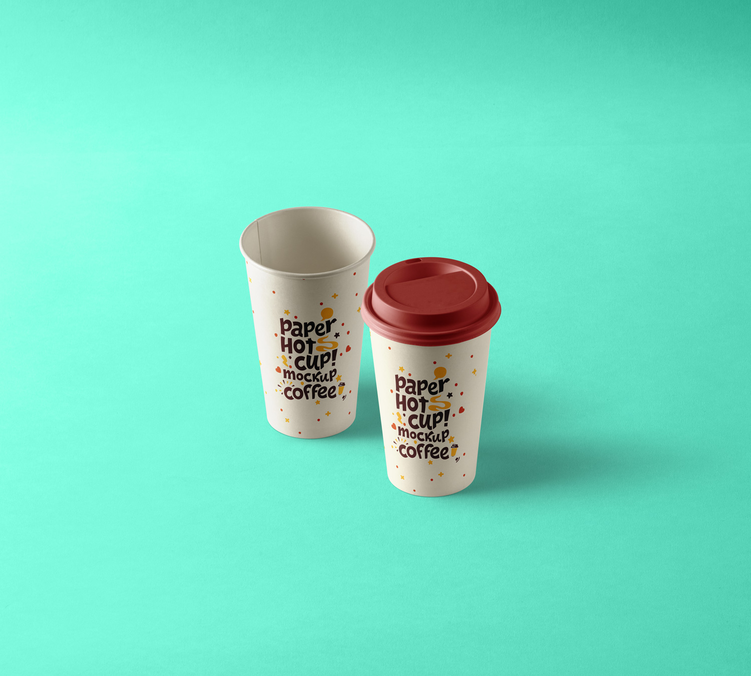 Paper Hot Cup Mockup Template PSD