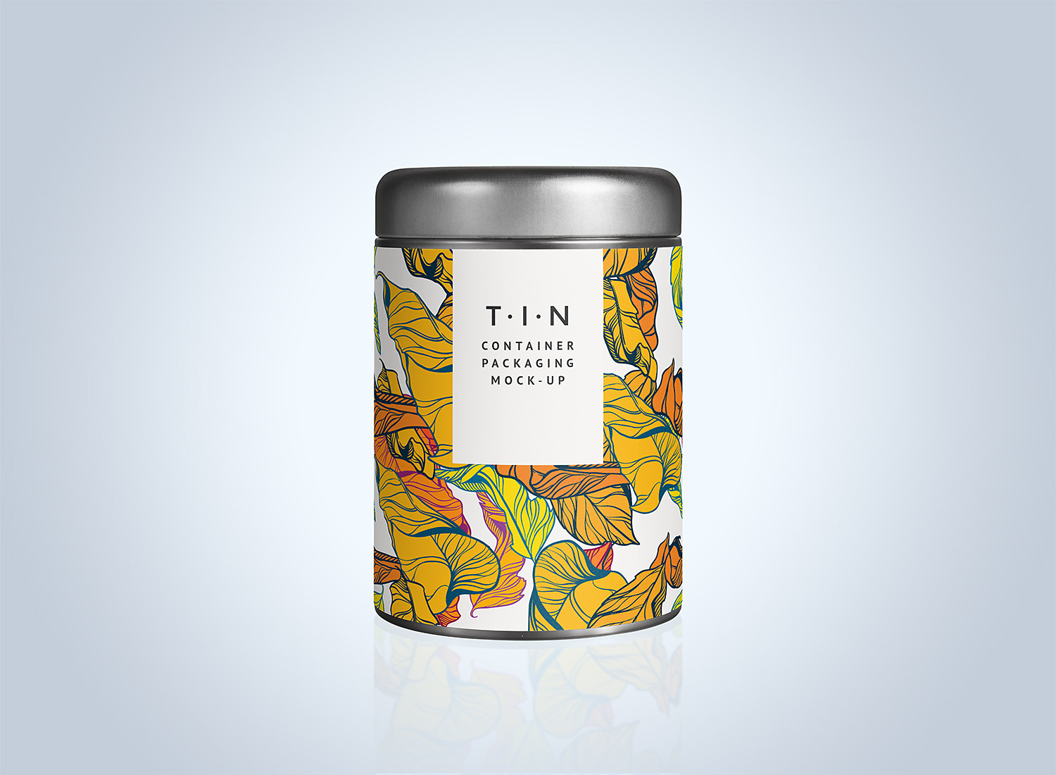 Tin Container Packaging Mockup PSD