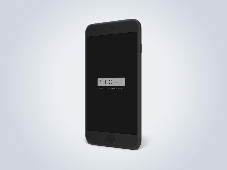 iPhone 8 Clay Black Free Mockup