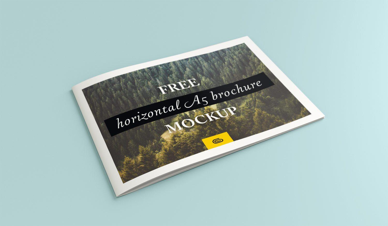 A5 Horizontal Brochure Mockup