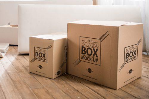 Corrugated Carton Packaging Box Mock-Up