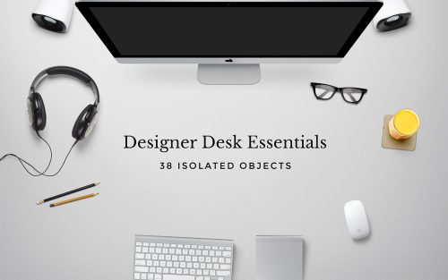 Desk Essentials Scene PSD