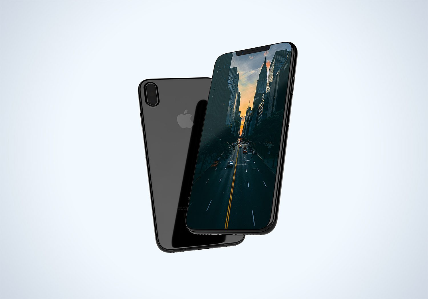 Floating iPhone X Mockup