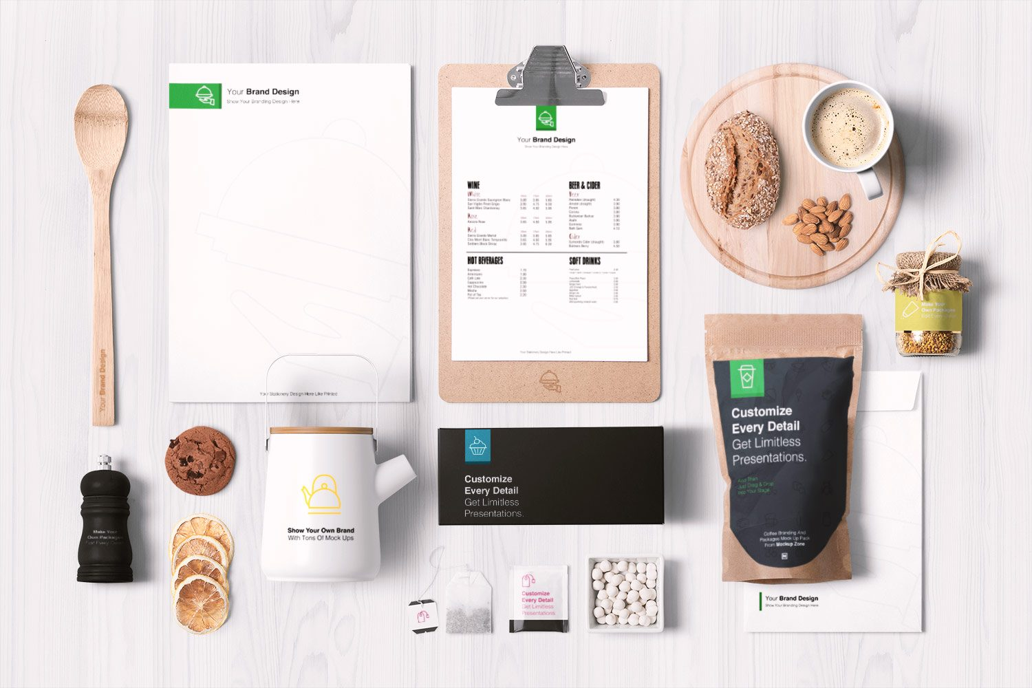 Food Packaging & Branding Mockups