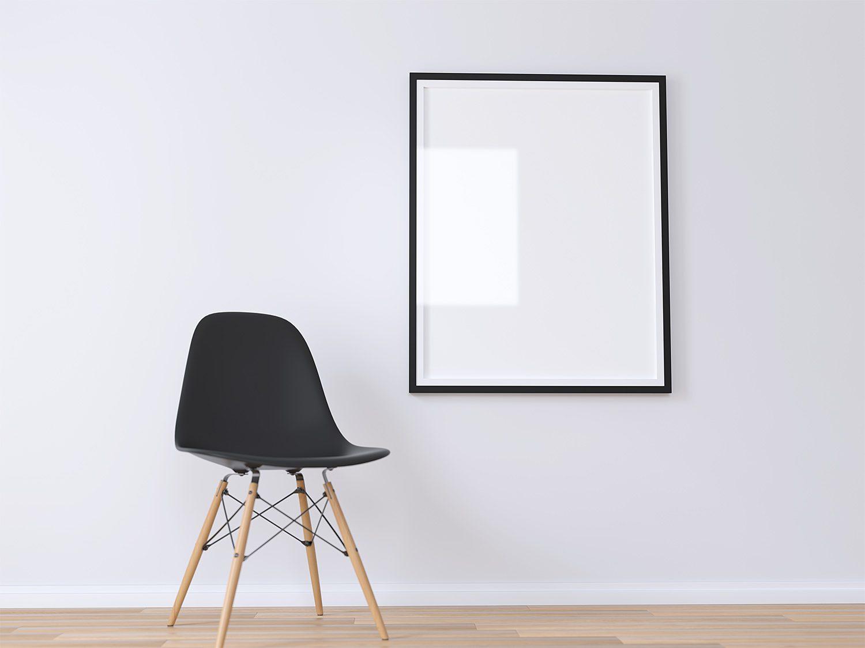 Free Realistic Poster Mockup 3D Render