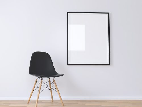Free Realistic Poster Mockup 3D Render