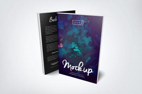 Front & Back Paperback Book Mockup