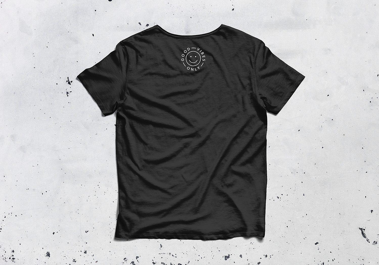 Half Sleeves Round Neck T-Shirt Mockup