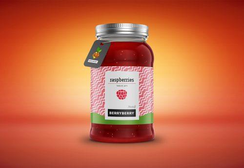 Jam Jar/Bottle Packaging Mockup PSD
