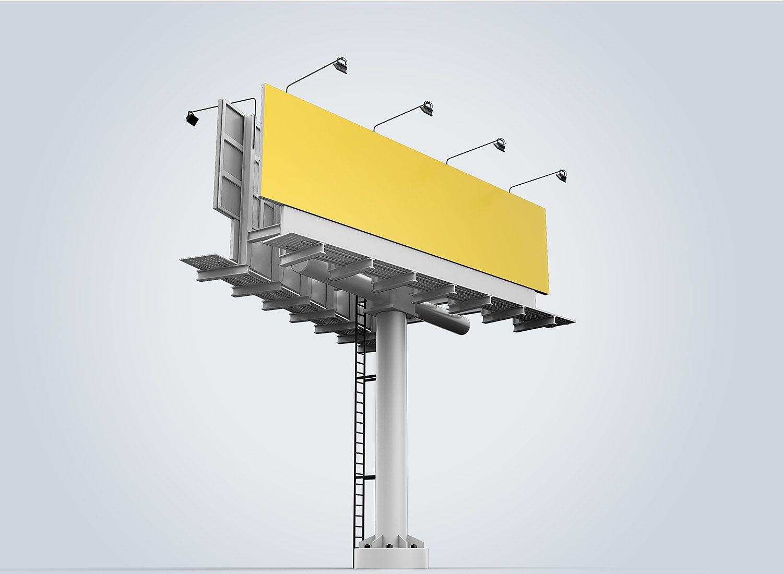 Outdoor Advertising 3D Billboard Mockup