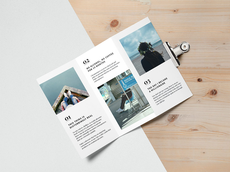 Tri-Fold Brochure Mockup US A4
