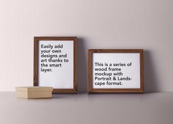 Wood Frame Mockup PSD