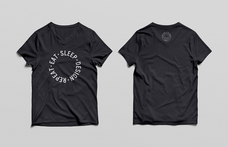 V-Neck T-Shirt Mockup PSD