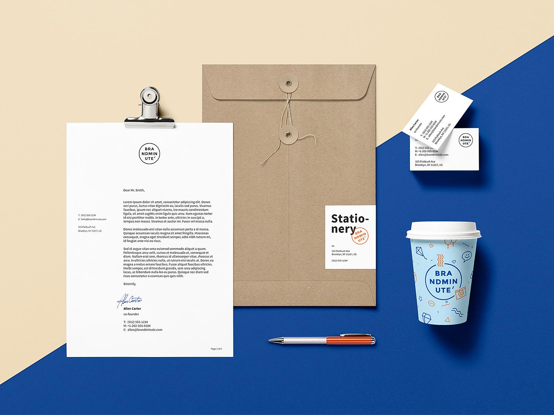 Premium Brand Identity Stationery Mockup