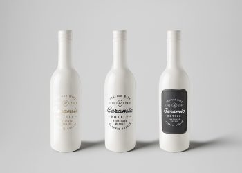 Ceramic Bottles Free PSD Mockup