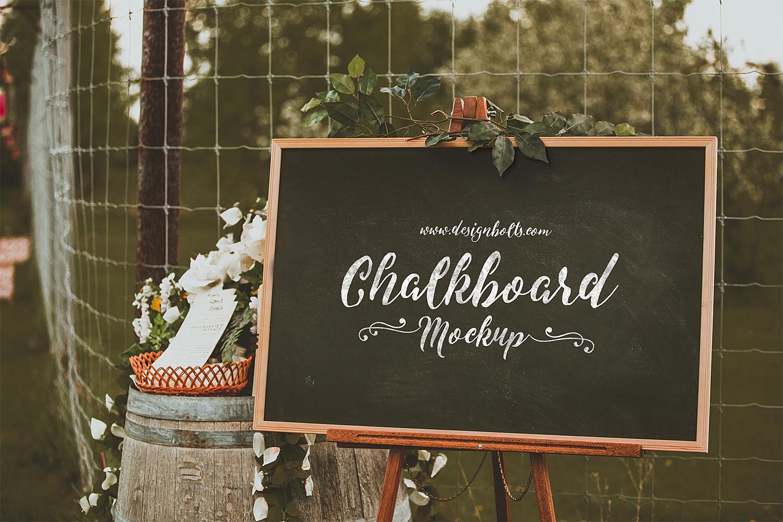 Chalkboard Mockup for Lettering & Typography
