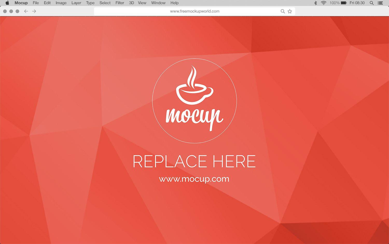 Free Menu Bar & Browser Mockup