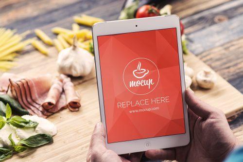 Free iPad Mini Mockup Food