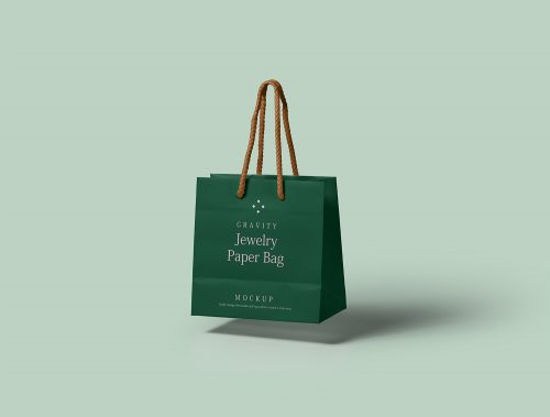 Gravity Paper Bag PSD Mockup