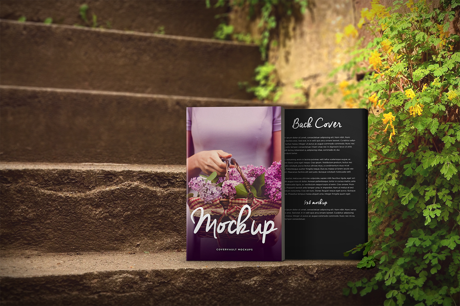 Romantic Steps Paperback Book Mockup