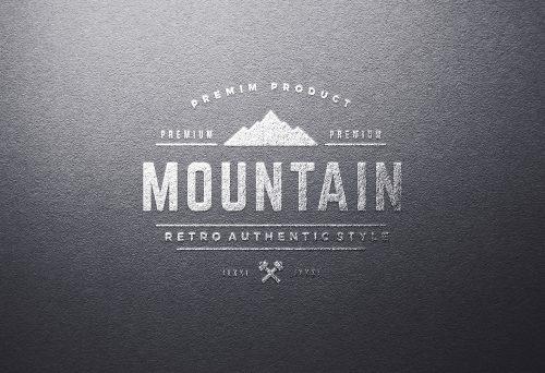 Silver Foil Logo Mock-Up Template