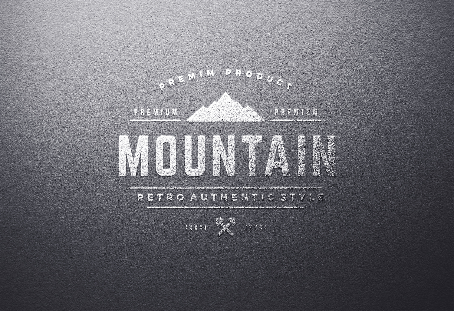 Silver Foil Logo Mock-Up Template