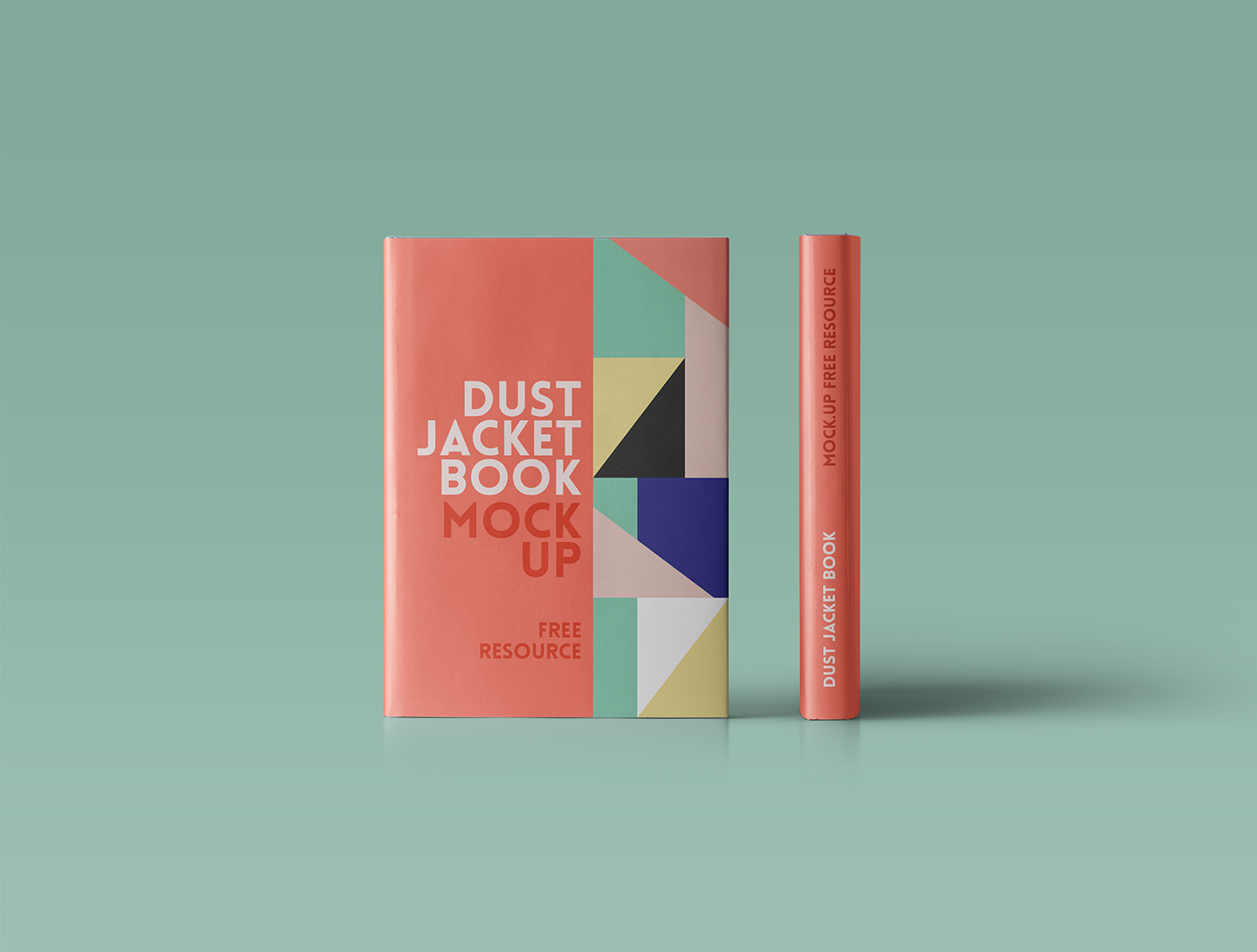 Standing Hardcover Book Mockup Dust Jacket
