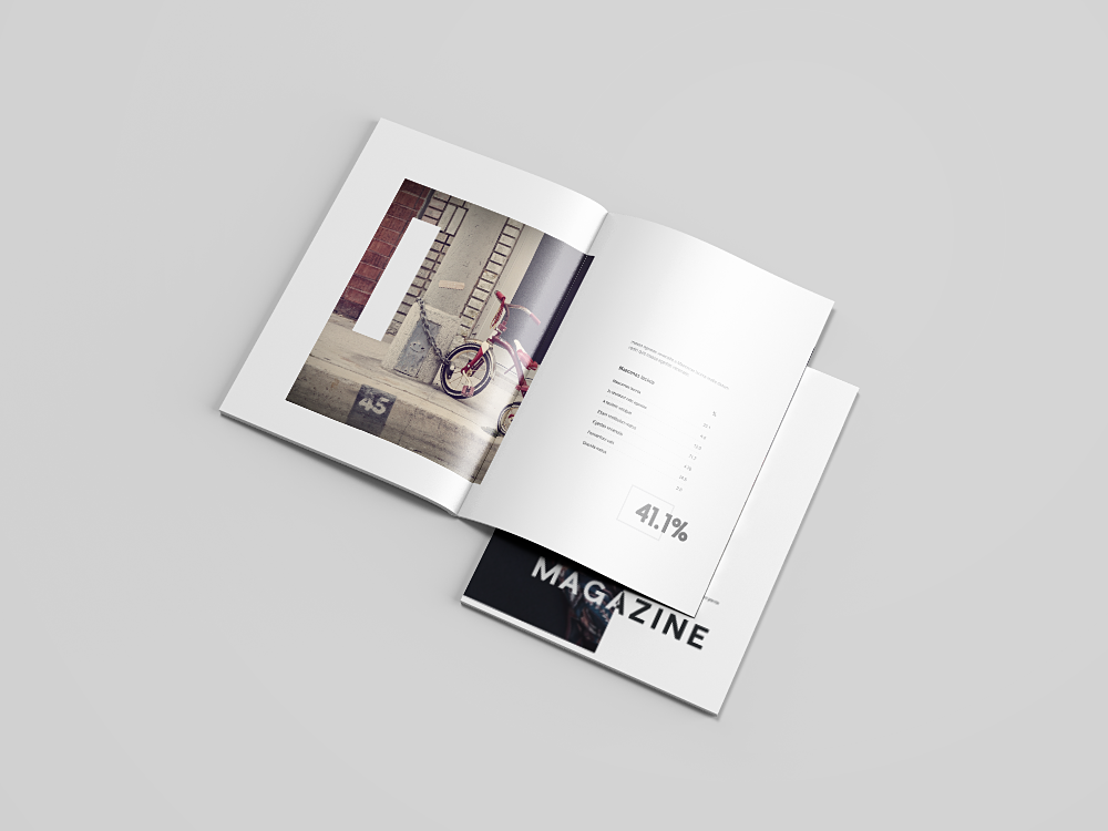 US Letter Portrait Catalog/Magazine Mock-Up