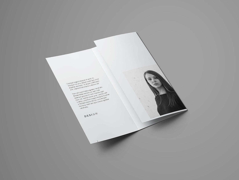 Advanced Trifold Brochure Mockup (7 angles)