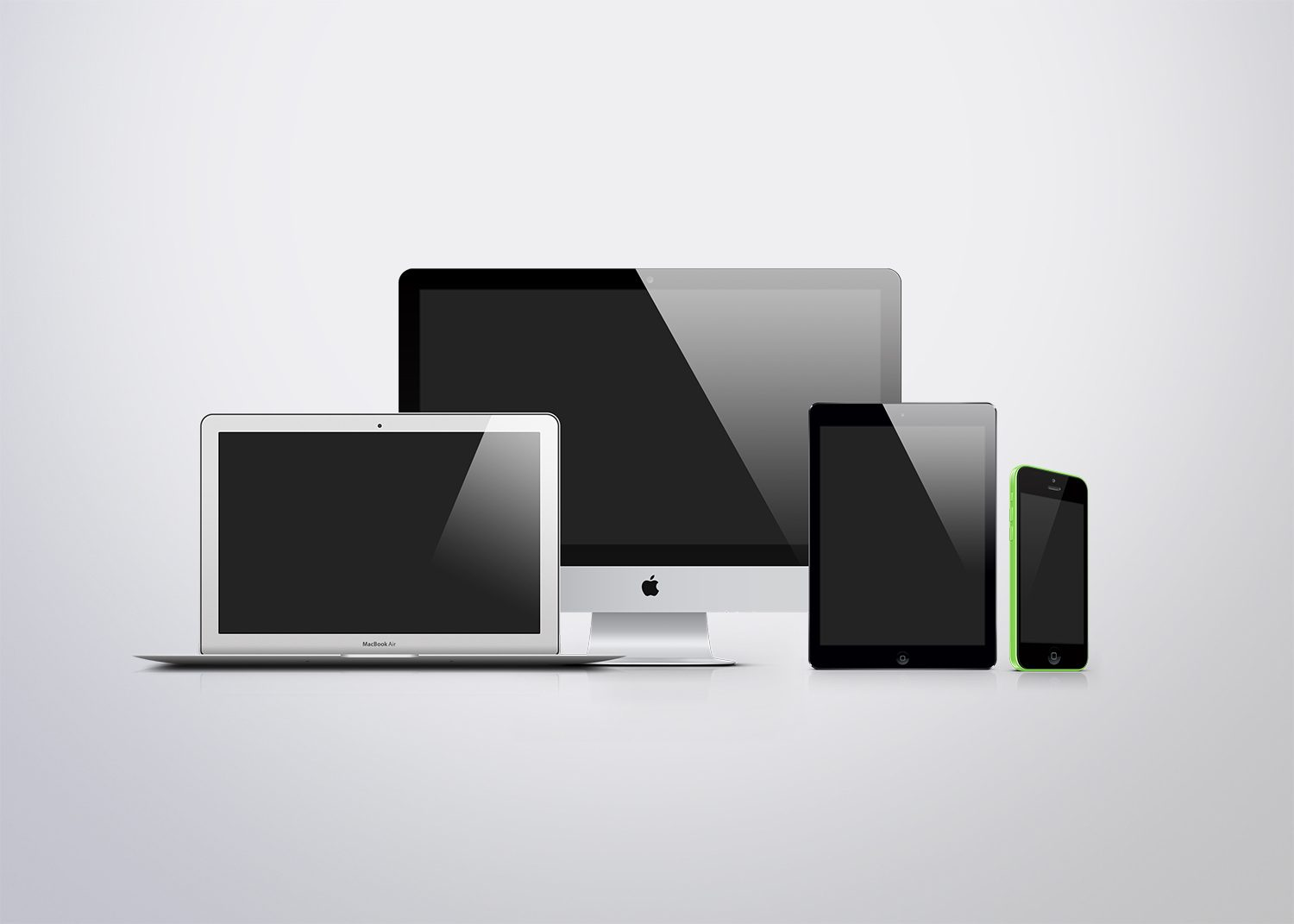 Apple Devices Responsive Screen Mockups